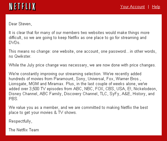 what a horrible year for netflix pr theyre flailing to find footing with their established loyal customer base